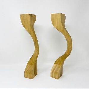 Homemade Wood Candle Stick Holders